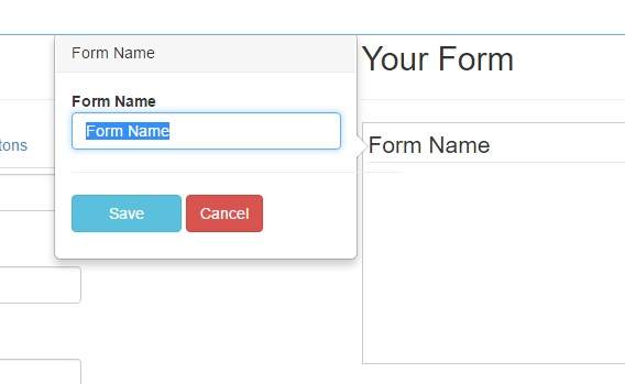 nome form Bootstrap Form Builder