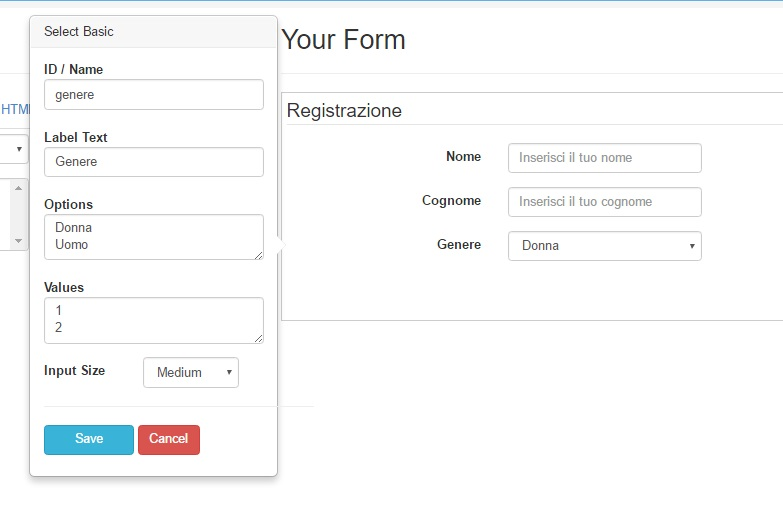 select Bootstrap Form Builder